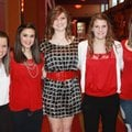 American Heart Association Sweethearts Jordan Shy, from left, Beth Ann Harrison, Maddi Been, Grayce ...