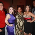 Edgar Barrales, from left, Jackie Sandoval, Barbara Loftin, Dania Herrera and Terrance Boyd enjoy th...