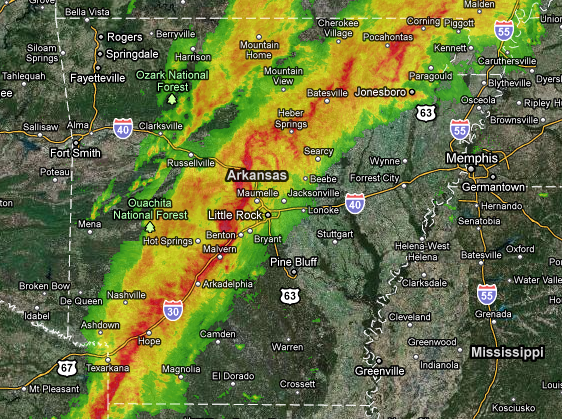 Arkansas Weather Map Tornado warning issued for parts of Arkansas Arkansas Weather Map