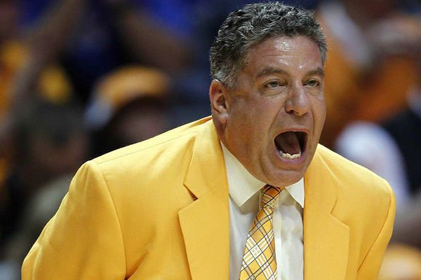 Unlike their regular-season meeting, Tennessee Coach Bruce Pearl will be on the bench for Thursday's game against Arkansas at the SEC Tournament in Atlanta.