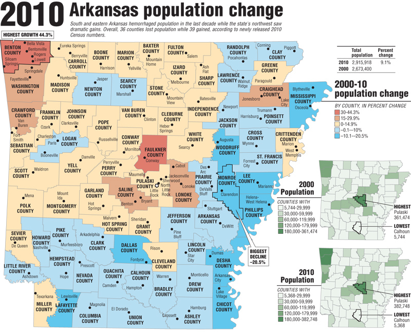 Census Charts And Maps - Map of us arkansas
