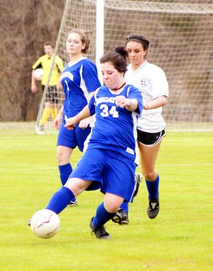 Mercedi Launders played in the game against Bergman at Harrison on March 22.