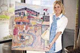 heather-mainord-holds-the-artwork-she-was-commissioned-to-paint-for-this-years-toad-suck-daze-prints-of-the-work-will-be-sold-and-the-original-will-remain-at-the-conway-area-chamber-of-commerce