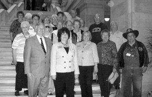 Representatives Mary Lou Slinkard and Jonathan Barnett are on the left, front in the photo. Also pictured are: Nancy Johnson, OHC Director of Senior Services; Mary Kay Kelley, BVH SAC Director; Kathy Patterson, SS SAC Director; Jackie Bader, Gentry Manager; and several area seniors from Gravette, Gentry and Siloam Springs.