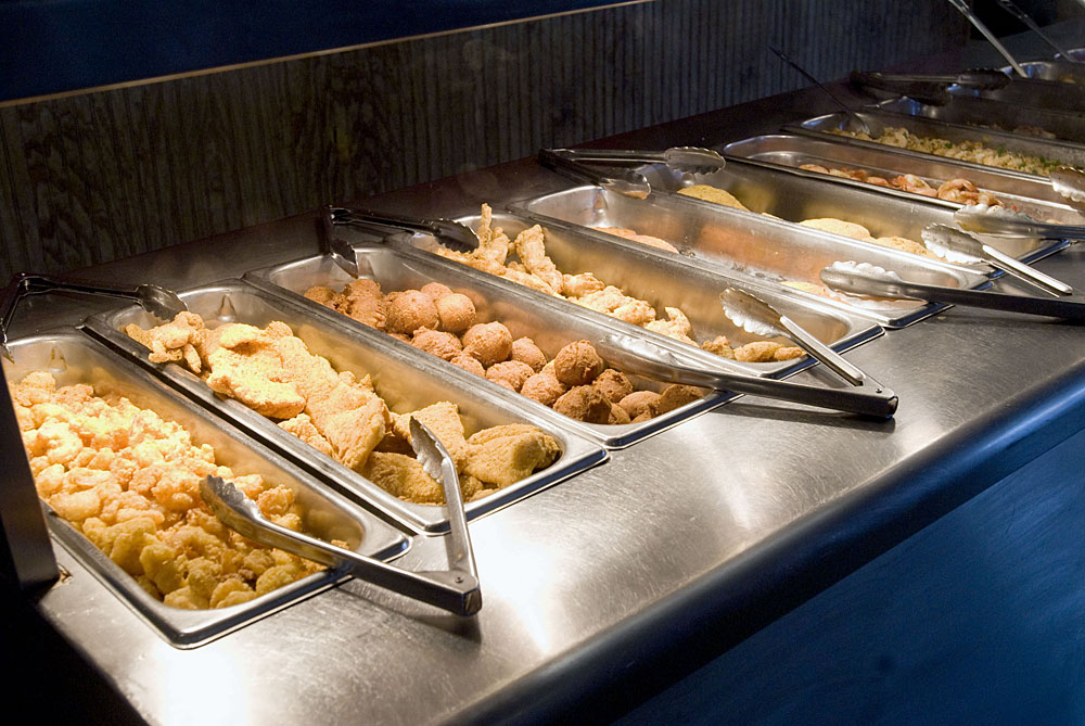 Selections On The Buffet At Cayenne S Cajun Cuisine In