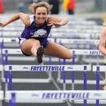Fayetteville's Macy Manning competes in the 100-meter hurdles Thursday during the Bulldog Relays at ...