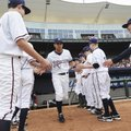 Northwest Arkansas Naturals' Anthony Seratelli takes the field Thursday for the first home game of t...