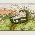 "Illustration by Kate Greenaway from the book ""The April Baby's Book of Tunes"" (1900)"