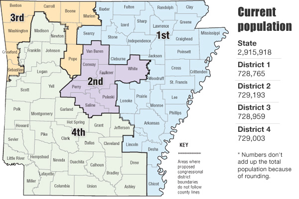 Redistricting In Arkansas - Arkansas us map