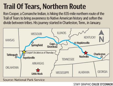 Oklahoma Man Walks Trail Of Tears