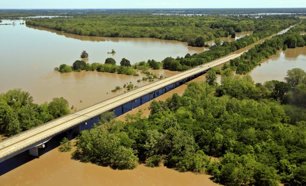 water-from-the-white-river-covers-part-of-interstate-40-top-right-forcing-closure-for-the-second-day-on-friday