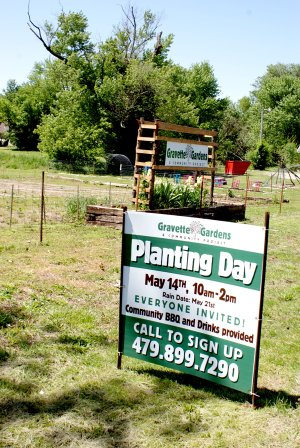 The ground is ready for planting day at the Gravette Community Garden this Saturday, May 14.