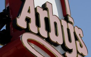 in this Monday, March 1, 2010, file photo, an Arby's restaurant sign is shown in Cutler Bay, Fla.