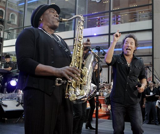 in-this-friday-sept-28-2007-file-picture-clarence-clemons-left-and-bruce-springsteen-right-perform-on-the-nbc-today-television-program-in-new-yorks-rockefeller-center