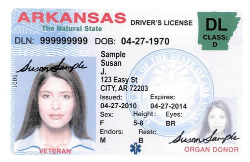 new arkansas drivers license to display veteran designation. Black Bedroom Furniture Sets. Home Design Ideas