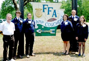 Members of the Gravette FFA chapter who attended the state convention were, from the left, advisor William Tapp, Sayer Smith, Dakota Welborn, Kayla Holliday, Tyler Martin and Kate Stidham.