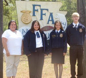 Those attending the state FFA convention from Decatur are Lisa Barrett (left), Jayme Burden, Lensey Watson and Blake Wilkins.