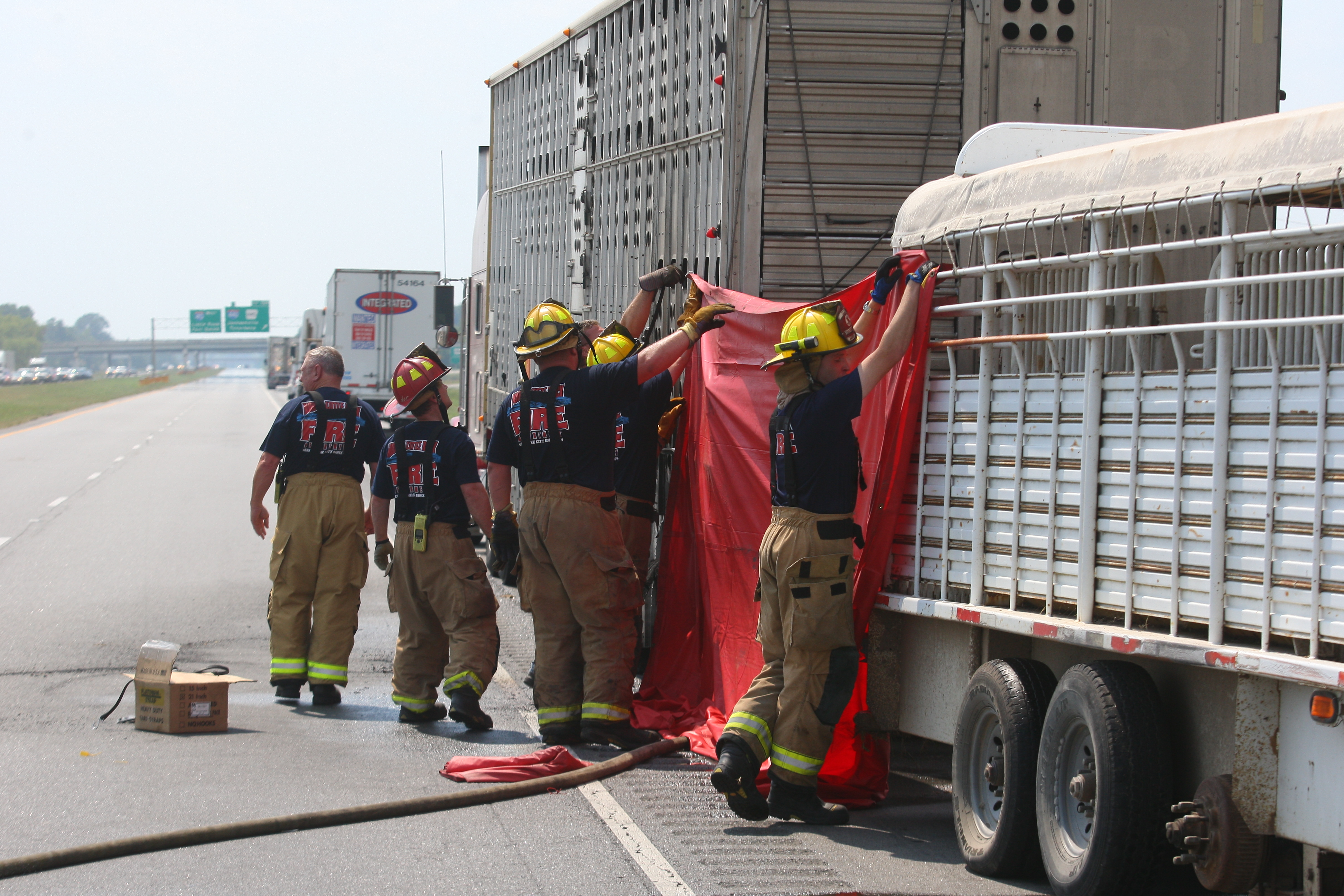 Fiery wreck on I-40 involves cattle truck