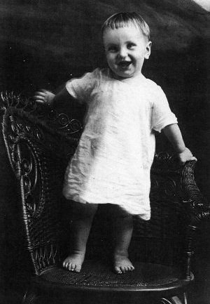 Joseph McMillan was winner of the 1920 Gravette Celebration Pretty Baby Contest.