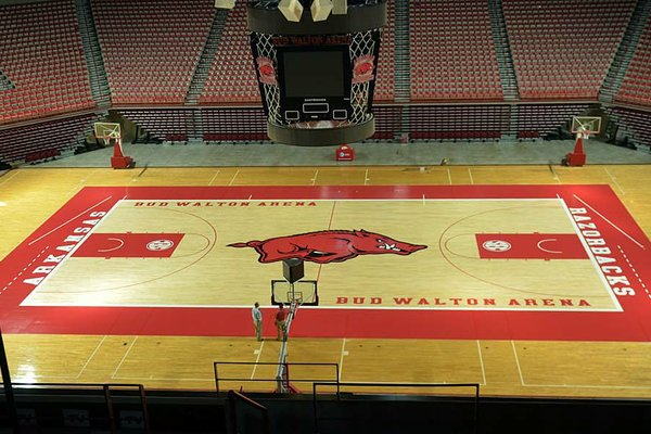 WholeHogSports - New look for Walton Arena's basketball court