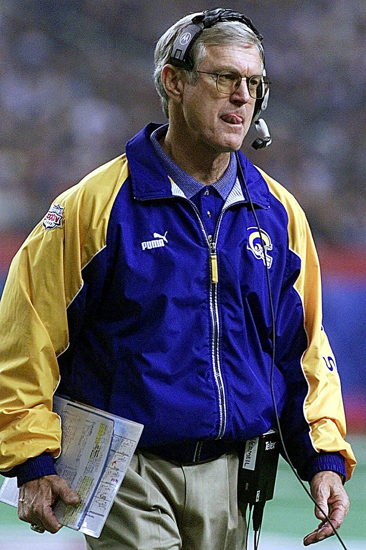 File St Louis Rams Coach Dick Vermeil Paces The Sideline