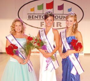 Miss Benton County Preteen was Alexandria Bennett of Bentonville (left), Miss Benton County was Courtney Millsap of Gentry, and Miss Benton County Junior Queen was Ashton Yarbrough of Gravette. The three winners were crowned on Aug. 17.