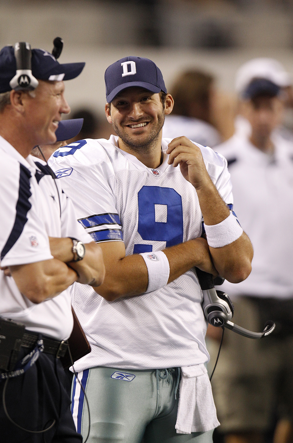 Dallas Cowboys Quarterback Coach Wade Wilson Left And
