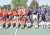 The Rogers Heritage tennis teams.