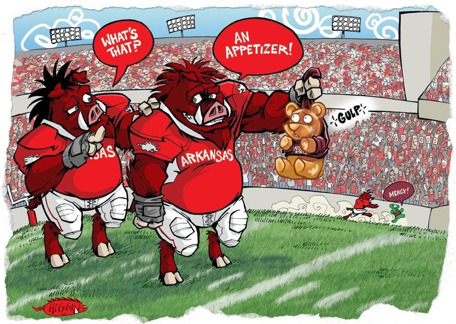 2011 arkansas gameday cartoons