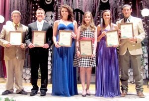 Local 4-H Teen Stars were Lane Walls, Joshua Lockhart, Kirby Romines, Sarah Mills, Emily Pigeon and Levi Bingham.