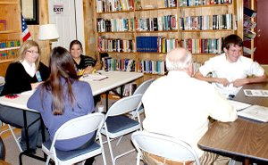 Mock interviews with local professionals helped job seekers sharpen their interview skills.