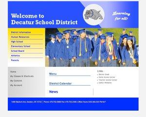 School District's new website