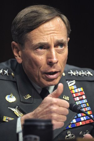 FILE: CIA Director Gen. David Petraeus testifies on Capitol Hill in Washington, Thursday, June 23, 2011, before the Senate Intelligence Committee during a hearing on his nomination.  (AP Photo/Cliff Owen)