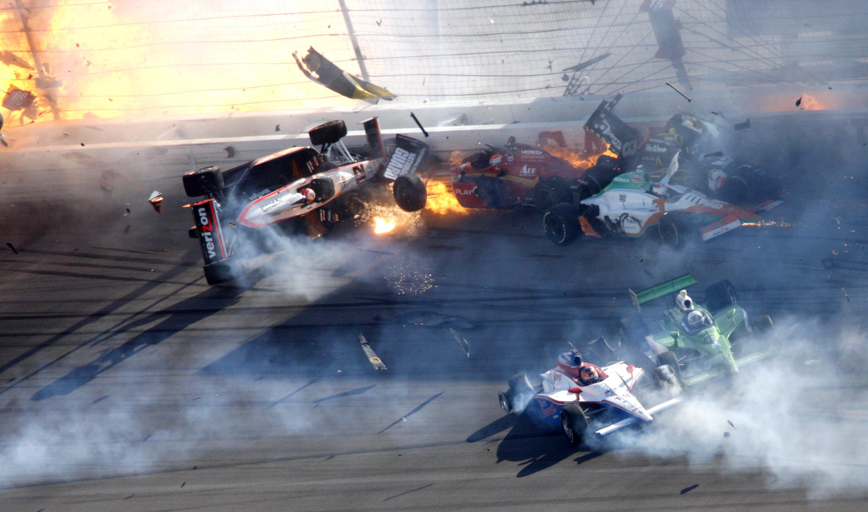 Indy Race Car Crash Death