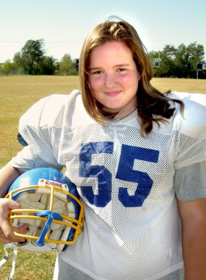 Cameron Shaffer, a seventh-grade student in Decatur, also plays offensive tackle on the football team.