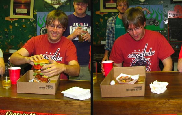 online-reporter-gavin-lesnick-is-seen-before-and-after-his-unsuccessful-attempt-at-the-midtown-burger-challenge