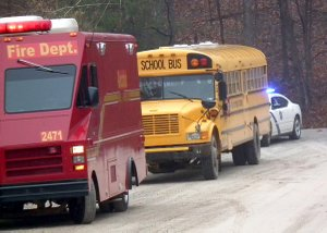 A Decatur school bus, loaded with children, was involved in a three-vehicle pile-up on Monday morning. None of the 20 children on board the bus were transported to the hospital.