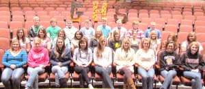 Miss Gravette High School contestants and their sponsors are: Kennedy Bohannon – Key Club, Jayla Brown – FBLA, Amber Countryman – Art Dept., Hannah Houchin – Science Dept., Skyler Pierce – Choir, Tori Key – Choir, Quincy Curtis – Quiz Bowl, Jessica Denver – FFA, Hailey House – FBLA, Jacquelynn Janes – English Dept., Rachael Morris – Science Dept., Rebekah Morris – NHS, Tatiana Polydore – DECA, Rebekah Rambadt – FCCLA, Ashley Bohannon – Key Club, Jade Elliot – Choir, Carmen Evans – Art, Kayla Holliday – Drama, Shyanne Nichols – Forensics, and Ishtar Vang – DECA. Mister Gravette High School contestants and their sponsors are: Aaron Eddy – Drama, Tristen Kahanek – Foreign Language Dept., Cody Robinson – Math Dept., Chase Brody – HOSA, Brendan Culp – Band, Zak Heald – FCA, Connor Houtchens – HOSA, Eric Rambadt – Science Dept., and Seth Rutherford – Skills Dept.