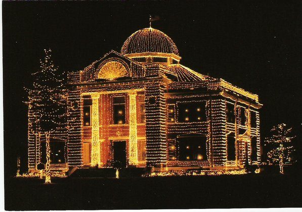Photo by Little River County—                                                                                         Enjoy the lights of the Little River County Courthouse in Ashdown this holiday season, when you'll see the nearly 105-year-old building festively decorated. While you're in town, be sure to stop by the Two Rivers Museum on Main Street as well.