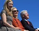 2011| Former President Bill Clinton seated with his wife, Sec. of State Hilary Clinton, and their da