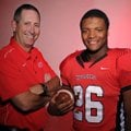 Deon Clay, right, and Mike Adams, both of Farmington High School, were named the 2011 Small School P...