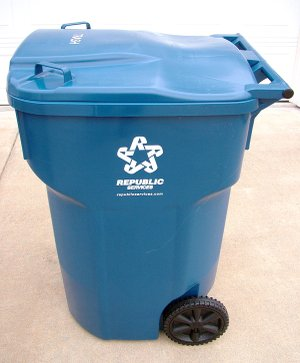 New 95-gallon polycart trash receptacles were delivered last week to Gentry residents by Allied Waste Services for a more automated trash pickup in the new year.