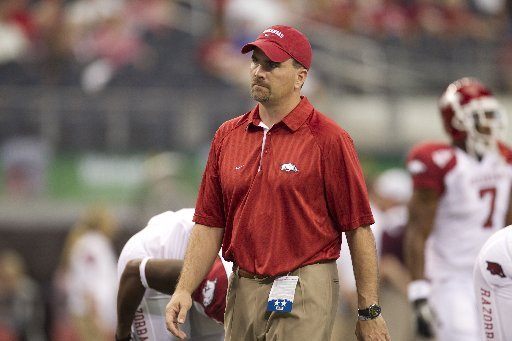 COURTESY PHOTO: Kevin Peoples, shown prior to Arkansas' game against Texas A&M in 2010, was promoted to a full-time assistant after spending two seasons as the Razorbacks' director of high school relations.