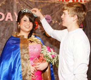 Senior Carlene Vargas was crowned colors day queen by junior Evan Owens, who was named colors day captain.
