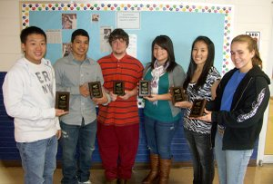 The Decatur FBLA recently won two first places in the district competition, qualifying them for the state competition in April. From left are Yuepheng Vang, Joe Casteneda, Logan Jamison, Carlene Vargas, Kaula Yang and Lensey Watson.