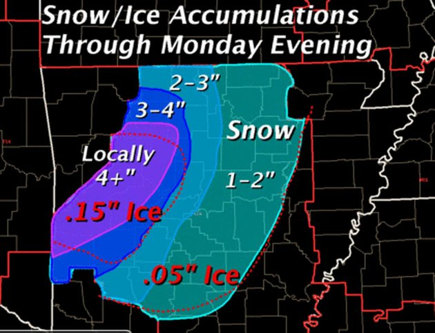 the-national-weather-service-expects-3-4-inches-of-snow-across-the-state-on-monday-ice-accumulations-could-reach-a-tenth-to-two-tenths-of-an-inch