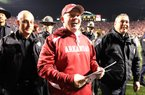Arkansas Coach Bobby Petrino will face LSU in Fayetteville on Thanksgiving weekend instead of Little Rock this season. The Oct. 27 game against Mississippi has been moved to Little Rock to make up for the switch.