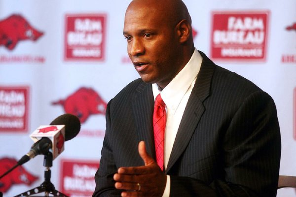 Paul Haynes speaks during a press conference.