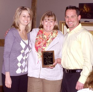 Mayor Kevin Johnston and his wife Lorie were honored as citizens of the year for the volunteer service to the community.
