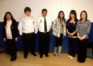 Decatur FCCLA team members qualified for the state level of competition. From the left is Fatima Vazquez, who placed second in the Recycle and Redesign event, followed by Logan Jamison, Joe Castaneda, Itzelth Segovia, Carlene Vargas and Ashley Prelle, who are on the Parliamentary Procedure team, which also placed second in the December competition. Team member Seanna Shaw is not pictured.